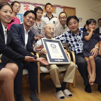 Xác lập kỷ lục sống lâu nhất hành tinh tại Nhật Bản